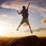 Jumping Man on the Peak