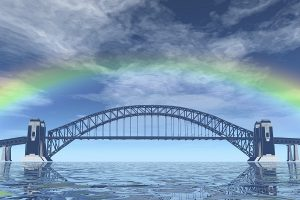 digital visualization of a bridge